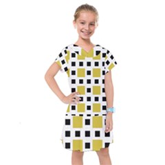 Squares On A Mission Kids  Drop Waist Dress by TimelessFashion