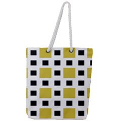 Squares On A Mission Full Print Rope Handle Tote (large)