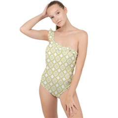 The Web  Frilly One Shoulder Swimsuit
