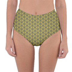 Triangle Party  Reversible High-waist Bikini Bottoms by TimelessFashion