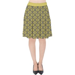 Triangle Party  Velvet High Waist Skirt by TimelessFashion