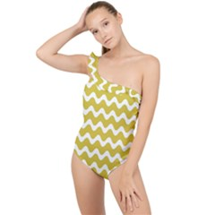 Waves  Frilly One Shoulder Swimsuit by TimelessFashion