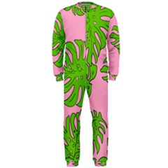 Leaves Tropical Plant Green Garden Onepiece Jumpsuit (men)