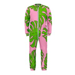 Leaves Tropical Plant Green Garden Onepiece Jumpsuit (kids) by Alisyart