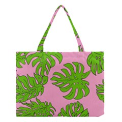 Leaves Tropical Plant Green Garden Medium Tote Bag by Alisyart