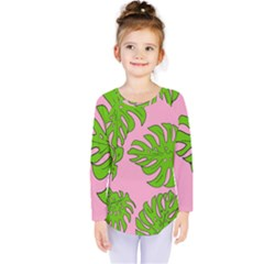 Leaves Tropical Plant Green Garden Kids  Long Sleeve Tee