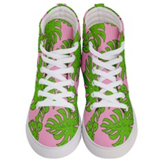Leaves Tropical Plant Green Garden Women s Hi Top Skate Sneakers