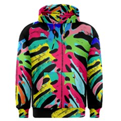 Leaf Tropical Colors Nature Leaves Men s Pullover Hoodie