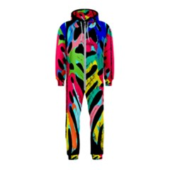 Leaf Tropical Colors Nature Leaves Hooded Jumpsuit (kids)