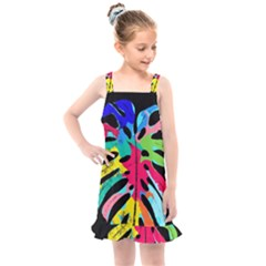 Leaf Tropical Colors Nature Leaves Kids  Overall Dress by Alisyart