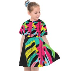 Leaf Tropical Colors Nature Leaves Kids  Sailor Dress by Alisyart