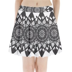 Mandala Flower Lotus Pleated Mini Skirt by Alisyart