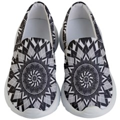 Mandala Flower Lotus Kids  Lightweight Slip Ons by Alisyart