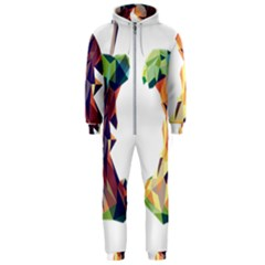 Illustrator Geometric Apple Hooded Jumpsuit (men)