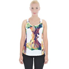 Illustrator Geometric Apple Piece Up Tank Top