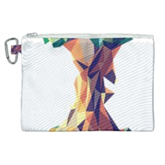Illustrator Geometric Apple Canvas Cosmetic Bag (xl)