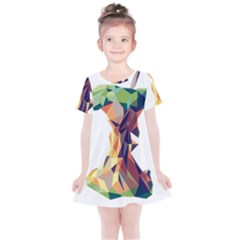 Illustrator Geometric Apple Kids  Simple Cotton Dress by Alisyart