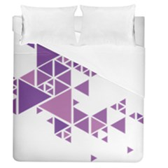 Art Purple Triangle Duvet Cover (queen Size) by Mariart