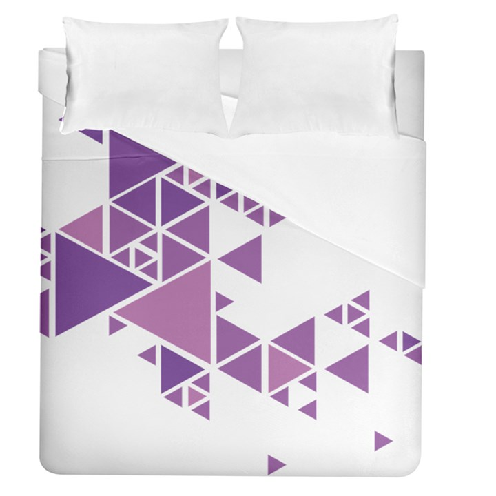 Art Purple Triangle Duvet Cover (Queen Size)