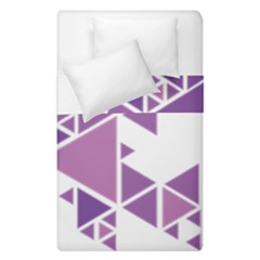 Art Purple Triangle Duvet Cover Double Side (single Size) by Mariart