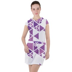 Art Purple Triangle Drawstring Hooded Dress by Mariart