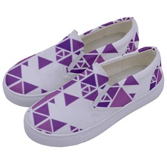 Art Purple Triangle Kids  Canvas Slip Ons by Mariart