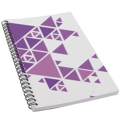 Art Purple Triangle 5 5  X 8 5  Notebook by Mariart