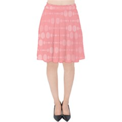 Background Polka Dots Pink Velvet High Waist Skirt