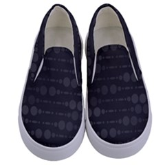 Background Polka Dots Kids  Canvas Slip Ons