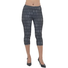 Background Polka Dots Lightweight Velour Capri Leggings  by Mariart