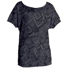 Black Rectangle Wallpaper Grey Women s Oversized Tee by Mariart