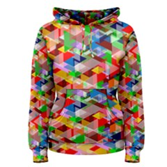 Background Triangle Rainbow Women s Pullover Hoodie