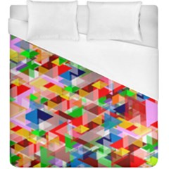 Background Triangle Rainbow Duvet Cover (king Size) by Mariart