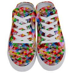 Background Triangle Rainbow Half Slippers