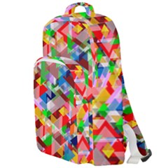 Background Triangle Rainbow Double Compartment Backpack by Mariart