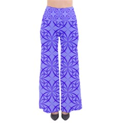 Blue Curved Line So Vintage Palazzo Pants by Mariart