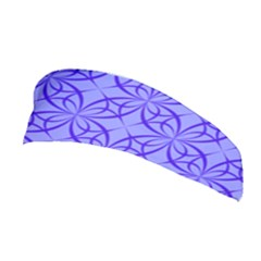 Blue Curved Line Stretchable Headband by Mariart
