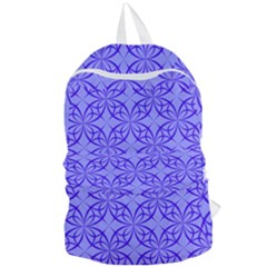 Blue Curved Line Foldable Lightweight Backpack by Mariart