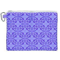 Blue Curved Line Canvas Cosmetic Bag (xxl) by Mariart