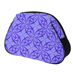 Blue Curved Line Full Print Accessory Pouch (small) by Mariart