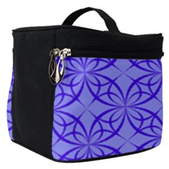 Blue Curved Line Make Up Travel Bag (small) by Mariart