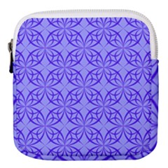 Blue Curved Line Mini Square Pouch by Mariart