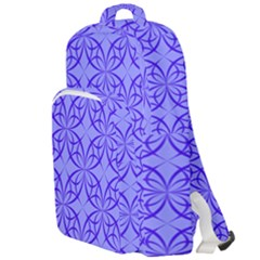 Blue Curved Line Double Compartment Backpack