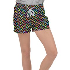 Abstract Geometric Women s Velour Lounge Shorts