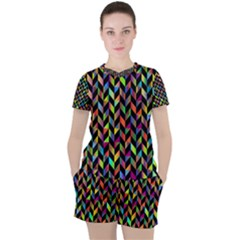 Abstract Geometric Women s Tee And Shorts Set by Mariart