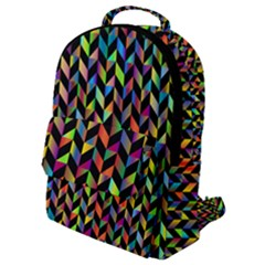 Abstract Geometric Flap Pocket Backpack (small)