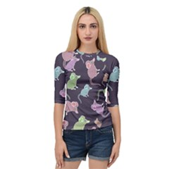 Animals Mouse Quarter Sleeve Raglan Tee