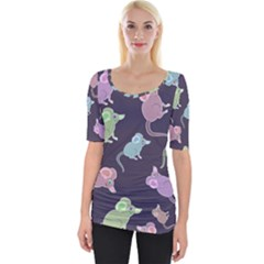 Animals Mouse Wide Neckline Tee by Mariart
