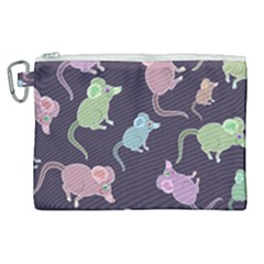 Animals Mouse Canvas Cosmetic Bag (xl)