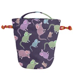 Animals Mouse Drawstring Bucket Bag by Mariart